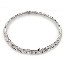 Bulgari Parentesi 18K White Gold with 0.85ct Diamond Wide Collar Necklace