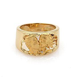 Carrera Y Carrera Diamond 18K Yellow Gold Diamond Ring Size 6