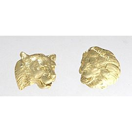 Buccellati 18K Yellow Gold Lion & Lioness Earrings