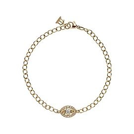 Temple St. Clair 18K Yellow Gold with 0.20ctw Diamond Evil Eye Bracelet