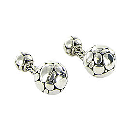 John Hardy Kali 925 Sterling Silver Ball Cufflinks