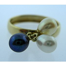 10K YELLOW GOLD LADIES PEARL RING SIZE 9.75