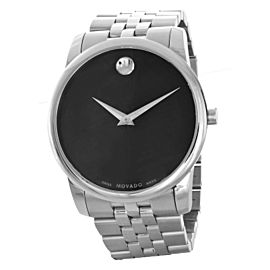 Movado Museum Men's Black Dial Stainless Steel Watch 07.1.14.1142