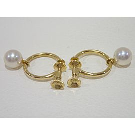 Mikimoto 163286850167-E 18K Yellow Gold Cultured Pearl Earrings