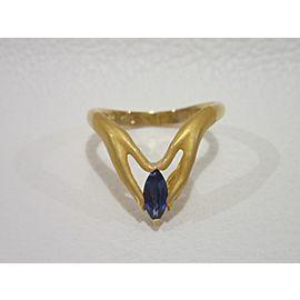 Carrera Y Carrera 163288784484-E 18K Yellow Gold Sapphire Rings Size 6
