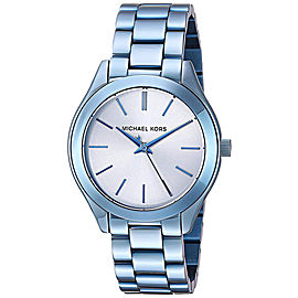Michael Kors MK3674 Runway Silver Dial Blue Stainless Steel Women's Watch