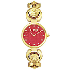 Versus by Versace S75030017 Peking Red Dial Gold Tone Stainless Women's Watch