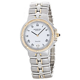 Raymond Weil Men's Parsifal White Roman Dial Stainless Steel Watch