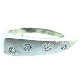 14K White Gold Ladies Diamond Ring Size 4.5