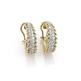 Omega 18K Yellow Gold Diamond Earrings
