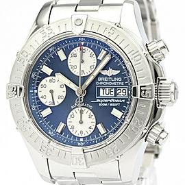 Polished BREITLING Stainless Steel Chrono Super Ocean watch HK-2010
