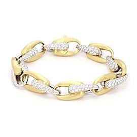 Marco Bicego Diamond 18k Two Tone Oval Chain Link Bracelet
