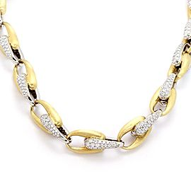 Marco Bicego Diamond 18k Two Tone Oval Chain Link Necklace