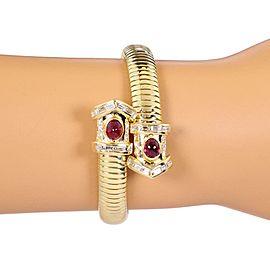 18K Yellow Gold Diamond, Ruby Bracelet