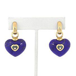 Chopard 18K Yellow Gold Diamond, Lapis, Turquoise, Lapis Lazuli Earrings