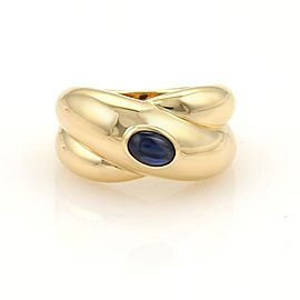 Cartier 18K Yellow Gold Sapphire Ring Size 5.75