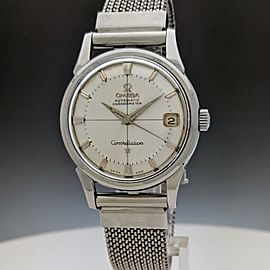 Omega Constellation Calendar 14393.61SC Pie Pan 1961 Vintage 34mm Mens Watch