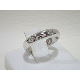Cartier 18K White Gold Diamond Ring Size 3.25