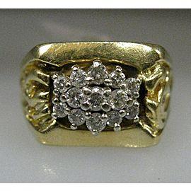 14K YELLOW GOLD DIAMOND LADIES RING SIZE 7.75