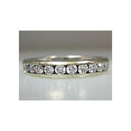 14K WHITE GOLD DIAMOND BAND LADIES RING SIZE 7.5