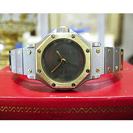 Cartier Santos Octagon Ladies Steel 18K Gold 25mm Date Automatic Watch