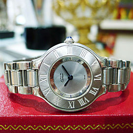 Cartier Must De Cartier 21 Steel And Gold 28mm Round Dress Watch