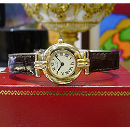 Ladies Cartier Must De Cartier Vermeil Gold Sterling Silver Roman Numeral Watch