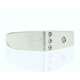 9K WHITE GOLD MENS DIAMOND RING SIZE 10.75