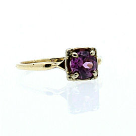 14K YELLOW GOLD LADIES AMETHYST STONE RING SIZE 7.75
