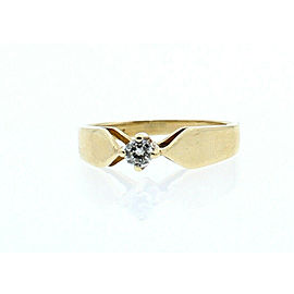 14K YELLOW GOLD .15ct DIAMOND LADIES RING SIZE 6