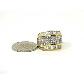 Stunning 18K Yellow Gold & 5 Carats Diamonds Ladies Dress Band Size 5.75