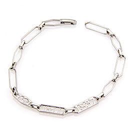 Tiffany & Co. 18K White Gold 1837 Chain Link Designer Bracelet