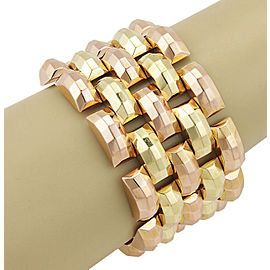 Retro 18K Yellow & Rose Gold 42mm Wide Link Fashion Bracelet