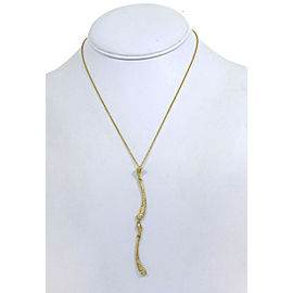 Tiffany & Co. Peretti Diamond 18k Gold Double Long Tear Drop Pendant Necklace