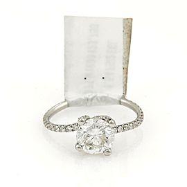 Round Brilliant Cut 1.54ct Diamond Solitaire Platinum Ring w/EGL Cert FSI2