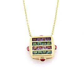 Bulgari Bvlgari 3.60ct Tourmaline & Amethys 18k Yellow Gold Necklace