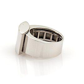 Chopard Happy Diamond 18k White Gold Rectangular Top 3 Diamond Ring Size 6