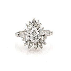 Estate 2.10ct Diamond & Platinum Cocktail Solitaire Ring Size 8.5