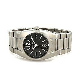 Bvlgari Ergon SSteel Date Sapphire Crystal Mid Size Wrist Watch Quartz
