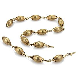 Retro 14k Yellow Gold Large Fruit Link Necklace & Bracelet Extension 136grams