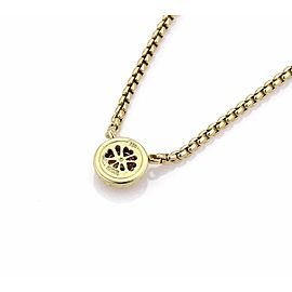David Yurman Peridot 18k Yellow Gold Enhancer Pendant & Box Chain Necklace