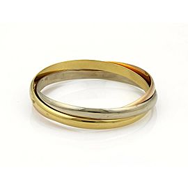 Cartier Trinity 18k Tri-Color 5.5mm 3 Rolling Bangle Size EU 59-US 7""