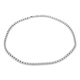 Tiffany & Co. Germany 18k White Gold 4.6mm Box Link Chain 75 GRAMS