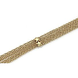 Estate 2.30ct Diamond 3 Stars Station 18k Yellow Gold Multi-Chain Necklace