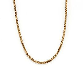Cartier 18k Rose Gold Woven wheat Link Chain Necklace