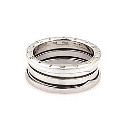 Bvlgari Bulgari B Zero-1 18k White Gold 9mm Band Ring Size 9