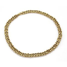 Tiffany & Co. Vintage 18k YGold X Design 9mm Wide Fancy Collar Necklace
