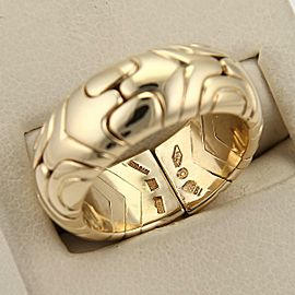 Bvlgari Bulgari Parentesi 18k Yellow Gold 8.5mm Wide Dome Cuff Band Ring