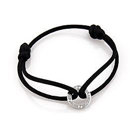 Cartier Love Diamond 18k Gold Mini Ring Charm NEW Black Cord Charity Bracelet