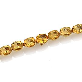 "H.Stern 120 Carats Citrine Oval Link 18k Gold Large Tennis Necklace 17"" L"